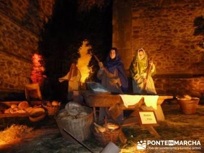 Senderismo Sierra Norte Madrid - Belén Viviente de Buitrago; senderos en santiago